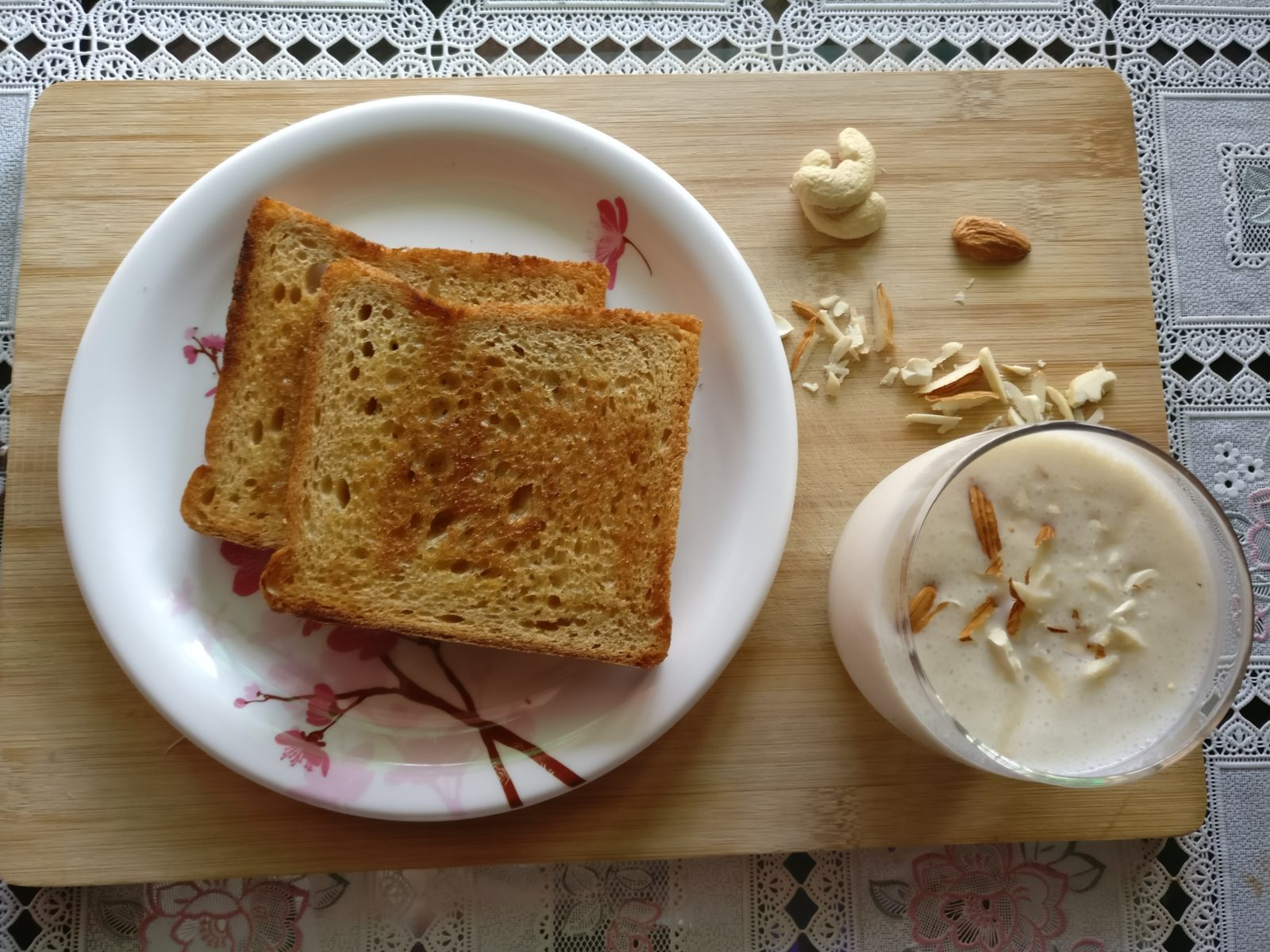 Bread Toast & Banana Milk Shake