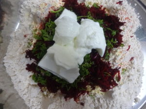 Dough Mix with Beet & curd